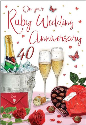 On Your Ruby Anniversary Champagne